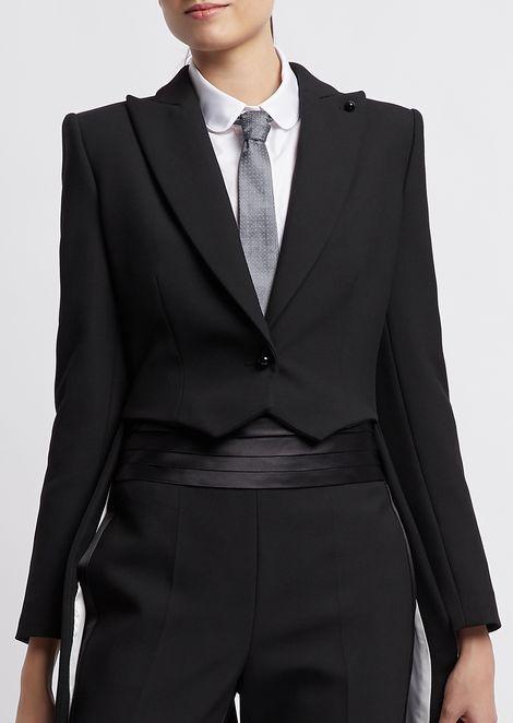 Cravatta in pura seta jacquard con micropois
