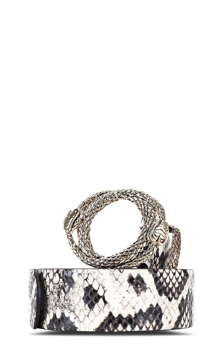 JUST CAVALLI Cintura stampa pitonata Cintura Donna f