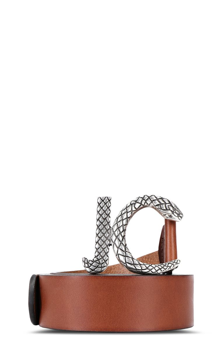 JUST CAVALLI Snake-logo belt Belt Man f