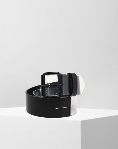 MM6 MAISON MARGIELA Half-And-Half buckled belt Belt [*** pickupInStoreShipping_info ***] f