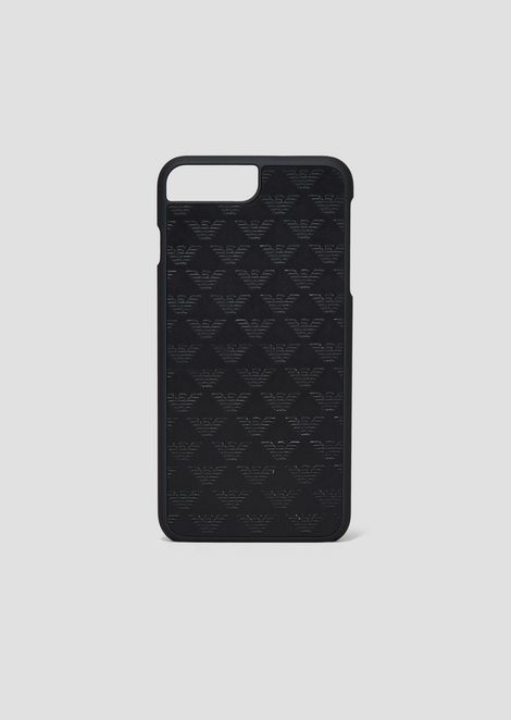 Funda iPhone 8 Plus de piel con estampado integral del monograma