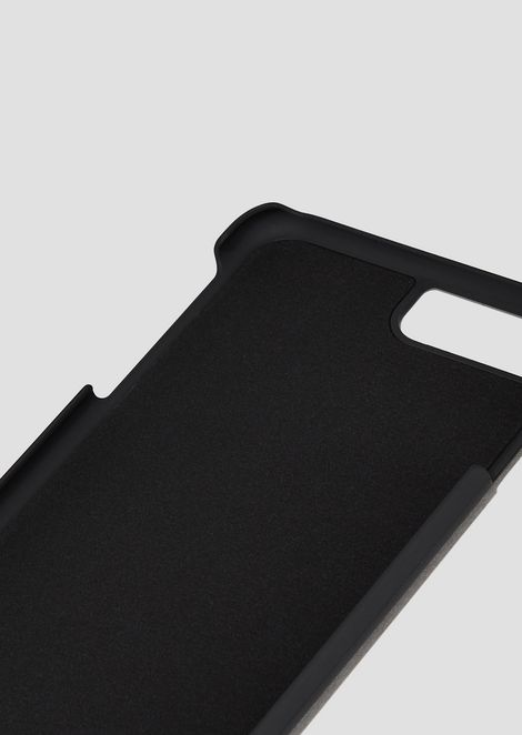 iPhone 8 PLUS cover in leather printed with all-over monogram