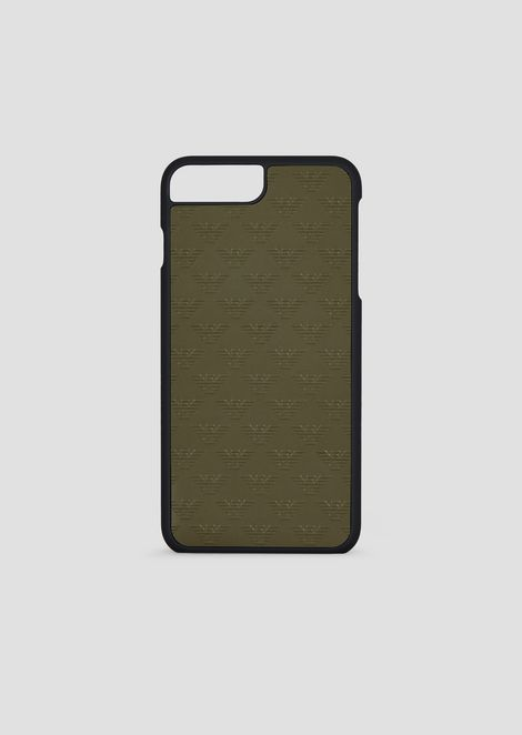 Cover iPhone 8 PLUS in pelle stampata con monogram allover