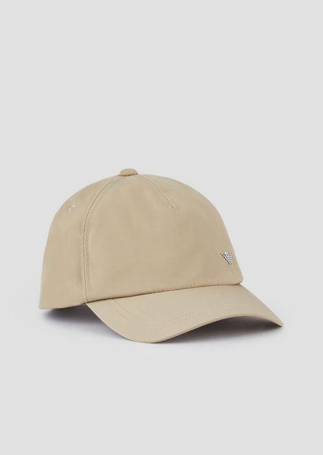 Baseball cap with eagle appliqué