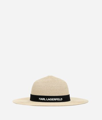 KARL LAGERFELD CHOUPETTE STRAW HAT