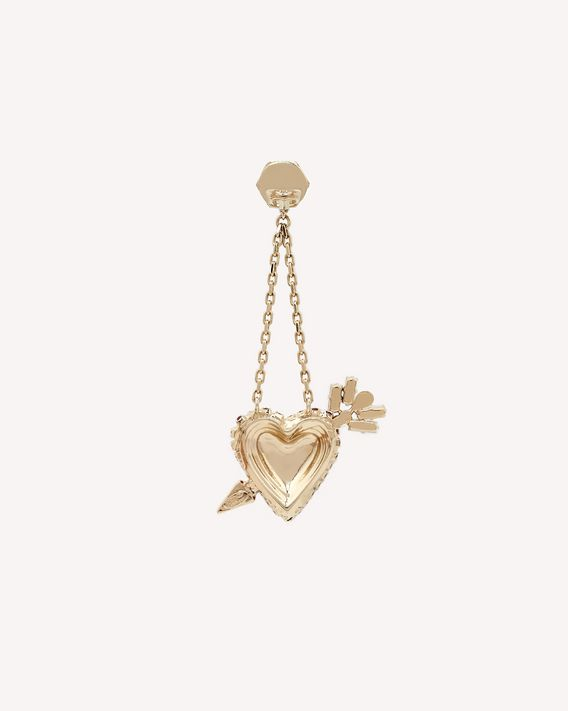 REDValentino HEART ARROW PENDANT EARRINGS