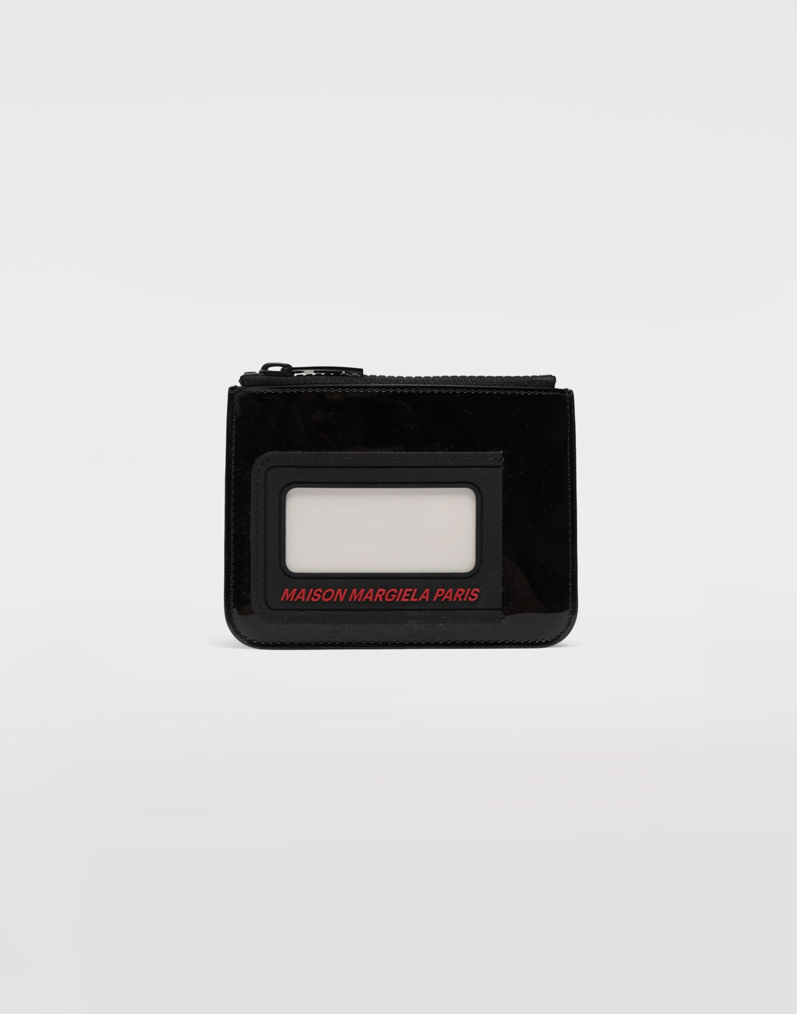MAISON MARGIELA Logo insert zip leather wallet Wallet Man f