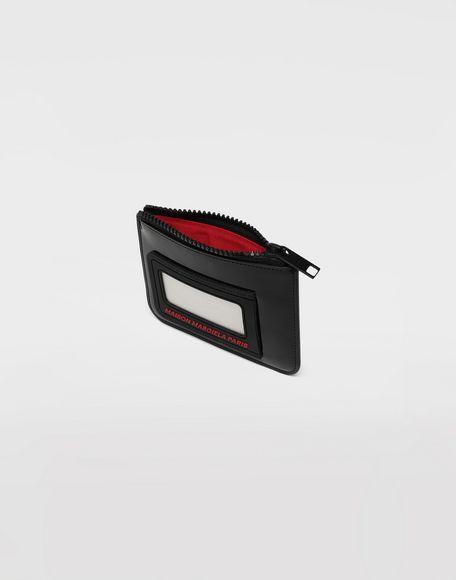 MAISON MARGIELA Logo insert zip leather wallet Wallet Man d
