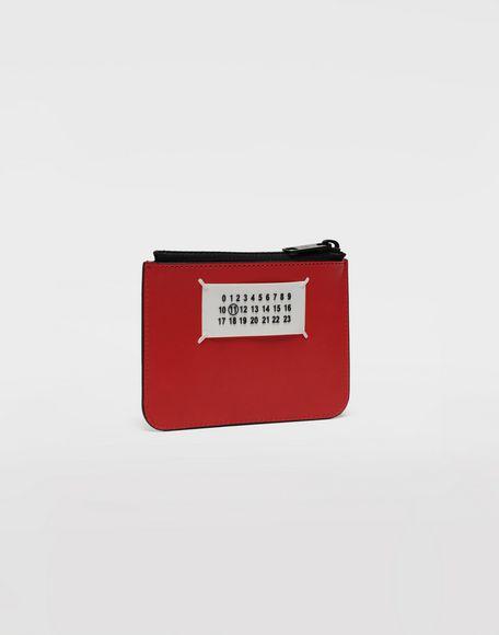 MAISON MARGIELA Logo insert zip leather wallet Wallet Man r