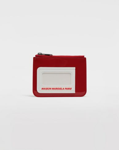 MAISON MARGIELA Wallets [*** pickupInStoreShippingNotGuaranteed_info ***] Logo insert zip leather wallet f