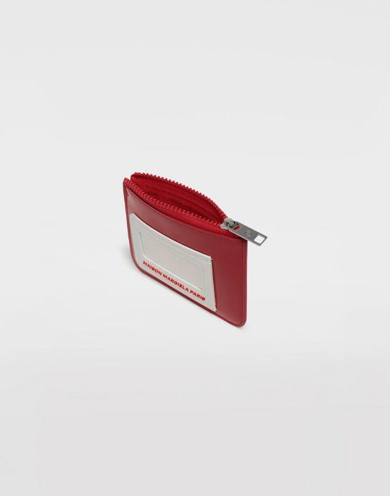 MAISON MARGIELA Logo insert zip leather wallet Wallet [*** pickupInStoreShippingNotGuaranteed_info ***] d
