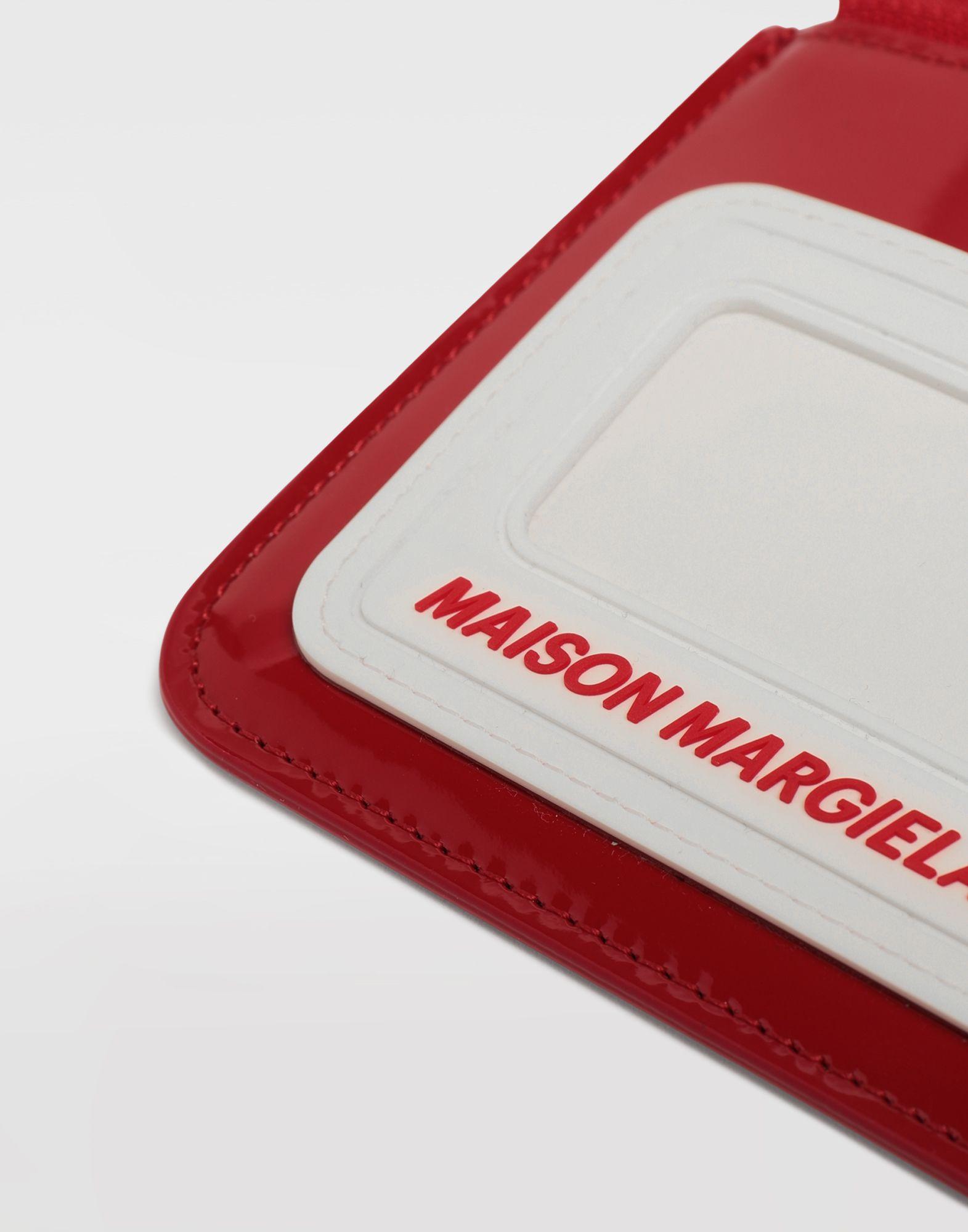 MAISON MARGIELA Logo insert zip leather wallet Wallet Man e