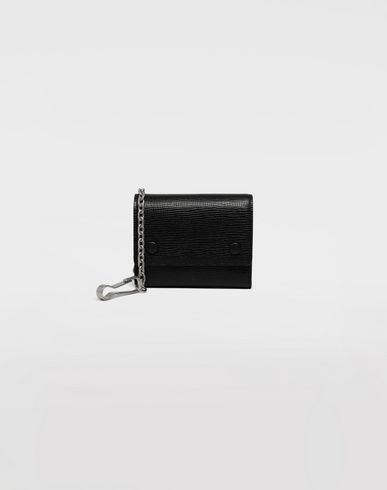 MAISON MARGIELA Chain textured leather wallet Wallet Man f