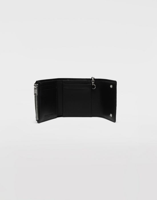 MAISON MARGIELA Chain textured leather wallet Wallet [*** pickupInStoreShippingNotGuaranteed_info ***] d