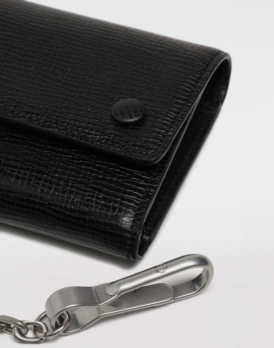MAISON MARGIELA Chain textured leather wallet Wallet [*** pickupInStoreShippingNotGuaranteed_info ***] e