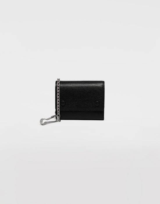 MAISON MARGIELA Chain textured leather wallet Wallet [*** pickupInStoreShippingNotGuaranteed_info ***] f