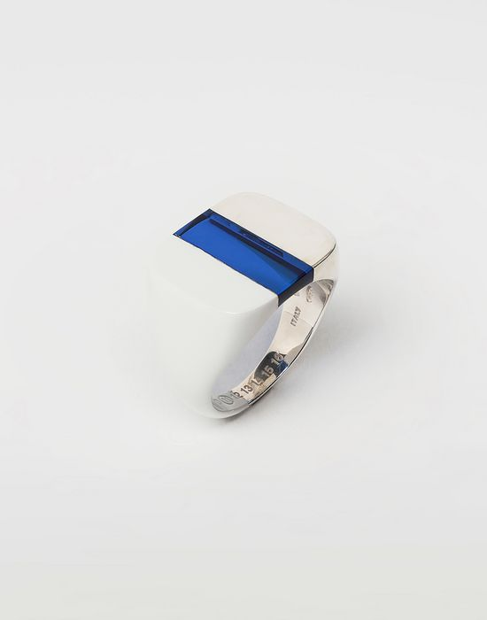 MAISON MARGIELA Suspension ring in Klein blue Ring [*** pickupInStoreShippingNotGuaranteed_info ***] r
