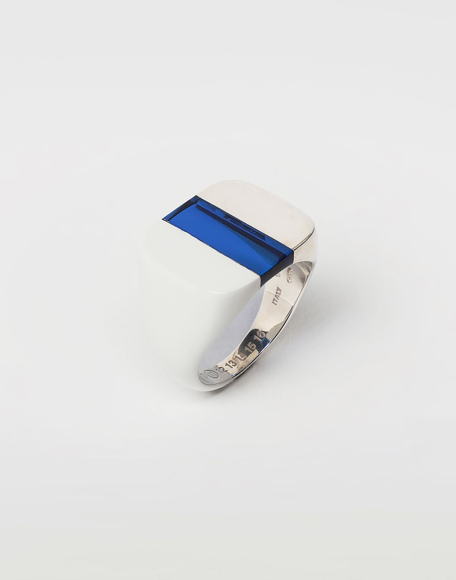 MAISON MARGIELA Suspension ring in blue Ring Man r