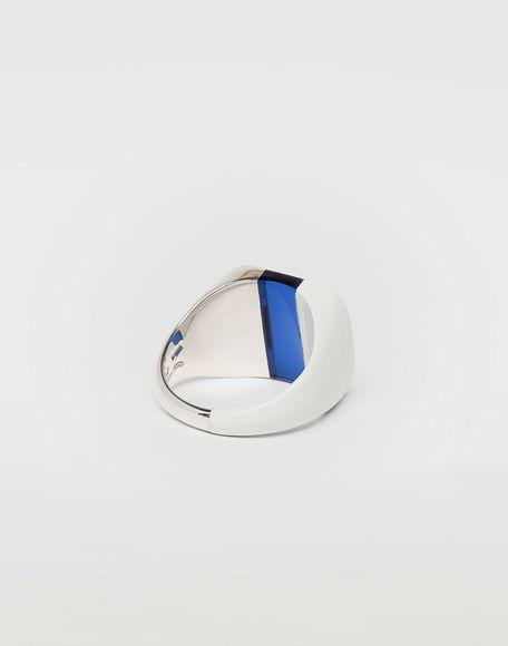 MAISON MARGIELA Suspension ring in blue Ring Man d