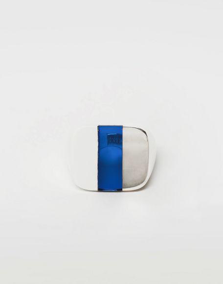 MAISON MARGIELA Suspension ring in blue Ring Man f