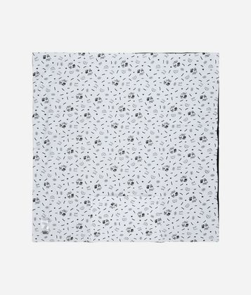 KARL LAGERFELD REVERSIBLE BLANKET WITH TOY