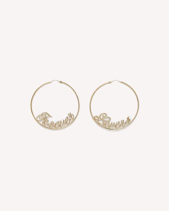 REDValentino FOREVER LOVERS HOOP EARRINGS