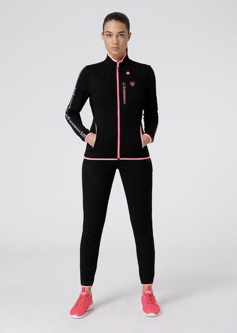 Survêtement en tissu stretch avec trou pour les écouteurs sur le sweat-shirt 8331603f051