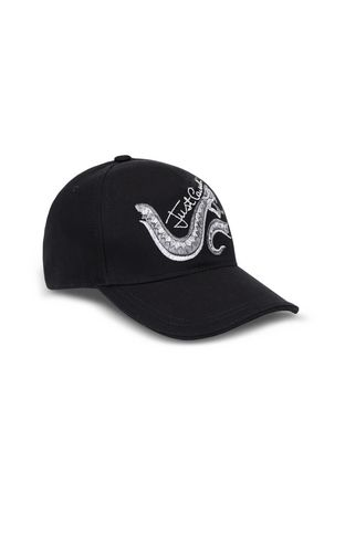 Baseball cap with snake