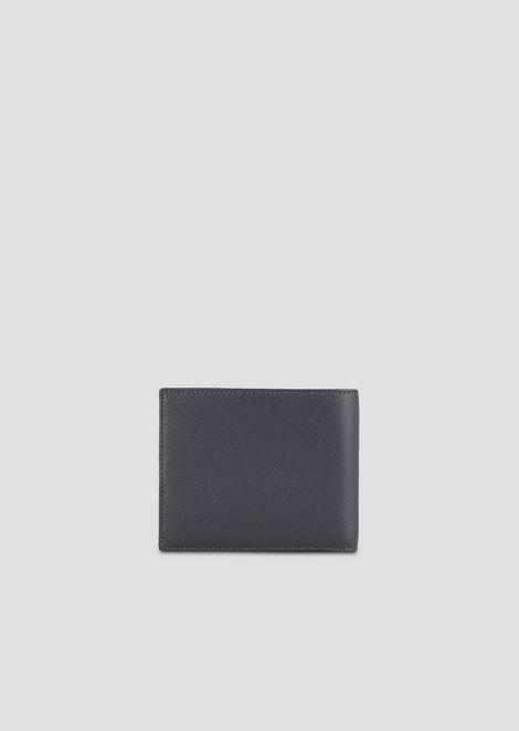 Bi-fold wallet in boarded leather