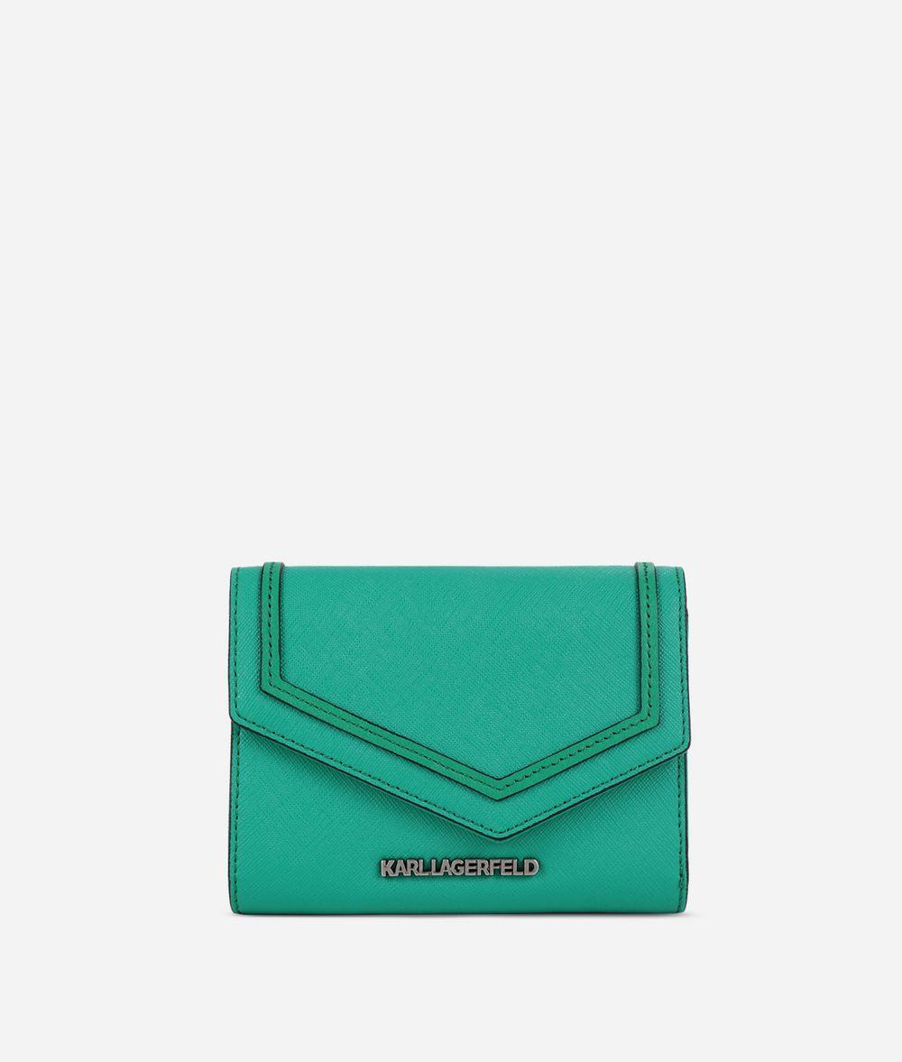 KARL LAGERFELD K/Rock Saffiano Wallet Wallet Woman f