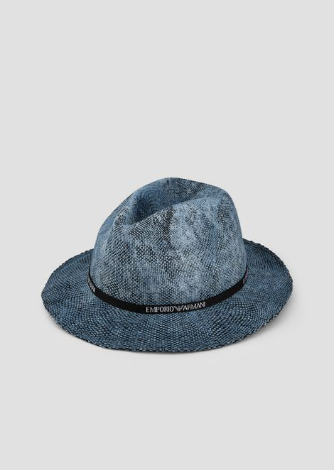 4e0330000c7 Fedora hat with Emporio Armani logo taping