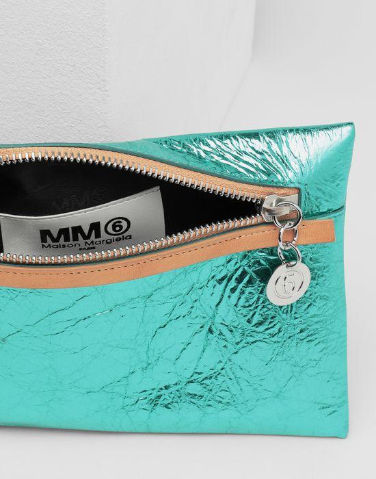 MM6 MAISON MARGIELA Crinkled leather zip pochette Wallets [*** pickupInStoreShipping_info ***] d
