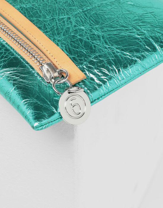 MM6 MAISON MARGIELA Crinkled leather zip pochette Wallets [*** pickupInStoreShipping_info ***] e