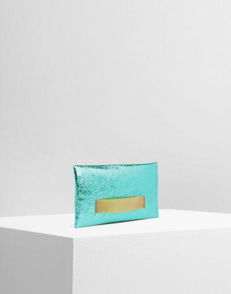 MM6 MAISON MARGIELA Crinkled leather zip pochette Wallet Woman r