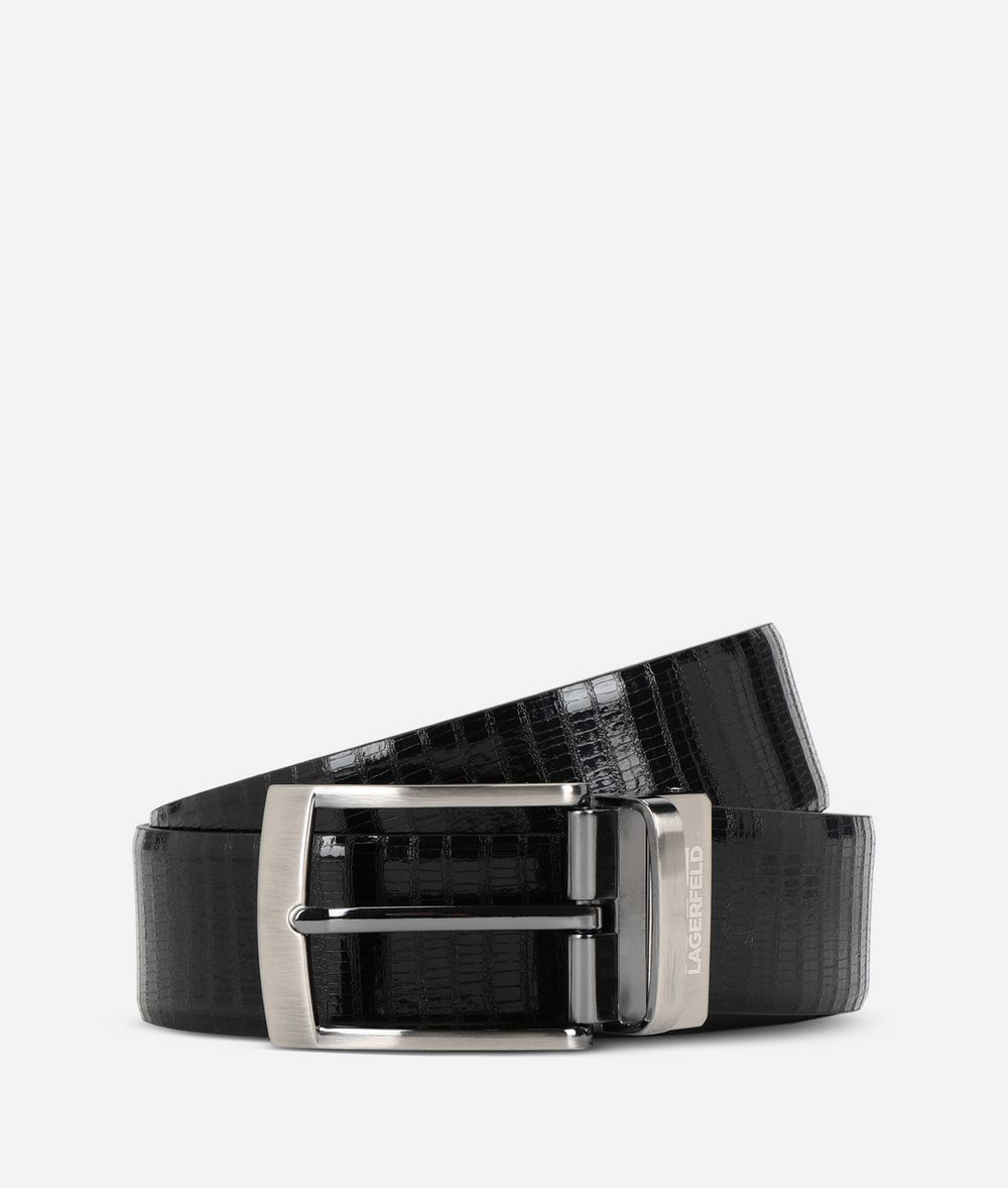 KARL LAGERFELD Leather Belt Belt Man f