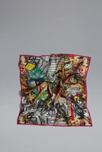 DSQUARED2 Botanic Eden Silk & Woven Foulard Платок Для Мужчин