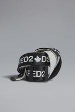 DSQUARED2 Red & Black Punk Acid Tape Belt Belt Man