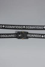 DSQUARED2 Red & Black Punk Acid Tape Belt Belt Woman
