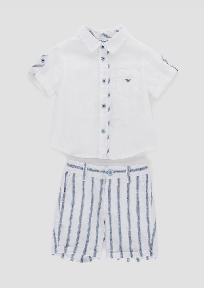 info for 9989a 63e6a Completo in lino composto da camicia e bermuda | Bambino ...