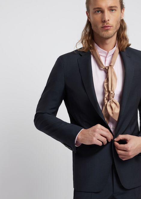 Silk foulard necktie with knots