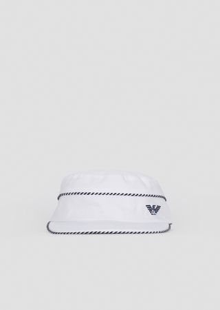 b820a659c2c Cotton hat with striped edges and logo