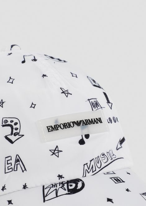 Baseball cap with pop prints