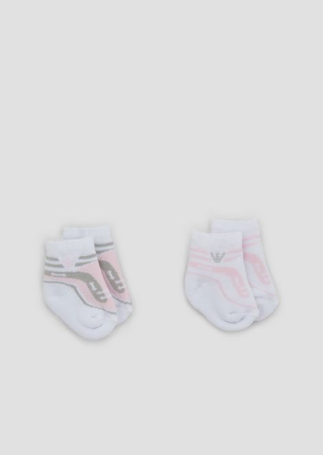 Set due paia di calze in cotone stretch