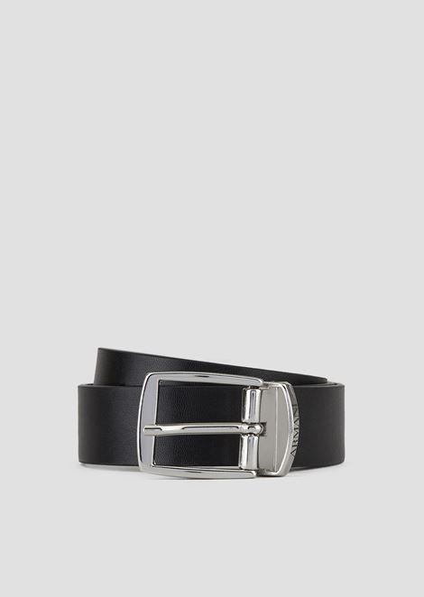 Cinturón reversible con hebilla metálica con logotipo