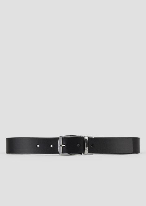 Cintura reversibile con fibbia in metallo logata