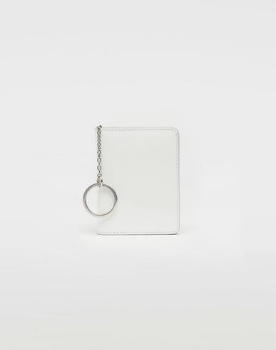 Keyring patent leather wallet