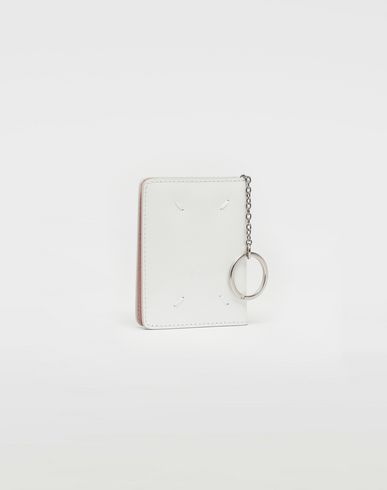 Small Leather Goods Keyring patent leather wallet