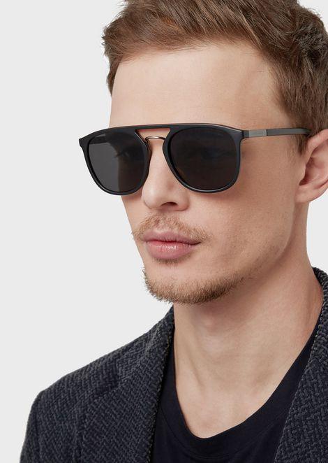Square man sunglasses