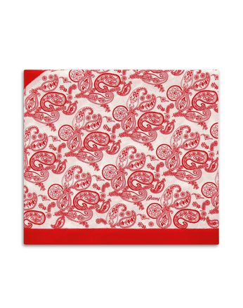 Red and White Paisley Scarf