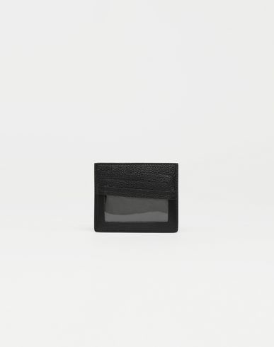 MAISON MARGIELA Décortiqué leather cardholder Wallet [*** pickupInStoreShippingNotGuaranteed_info ***] f